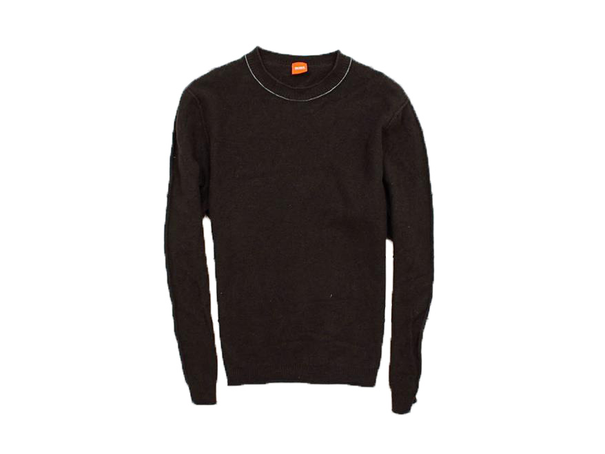 N Hugo Boss Orange Sweter Męski Wełniany Brąz XXL