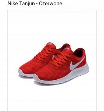 sneakersy męskie Nike Tanjun NIKE czerwone Buty sportowe