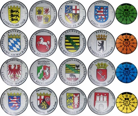 Odblaskowe Naklejki Niemieckie Tablice 7402719308 Oficjalne Archiwum Allegro