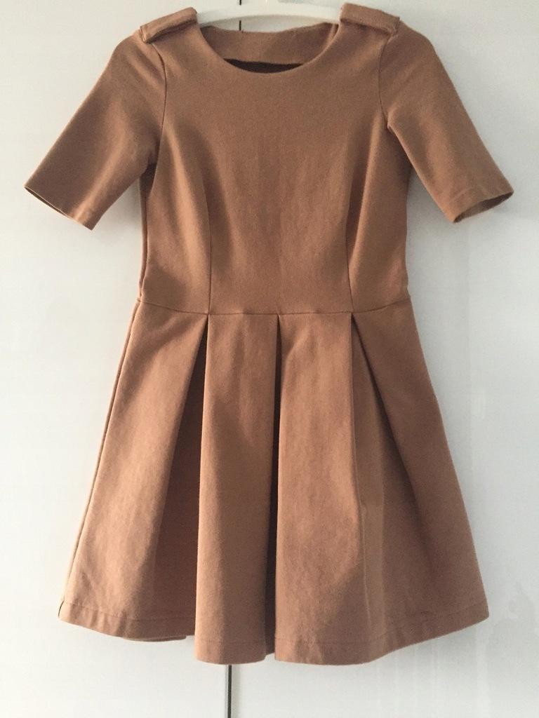 sukienka Bezowa ZARA rozmiar 34 XS S dresowa 7420357748