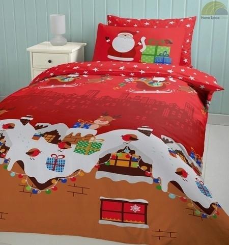 Posciel Swiateczna Dzieci Santas Present 140x200 7708705327 Oficjalne Archiwum Allegro