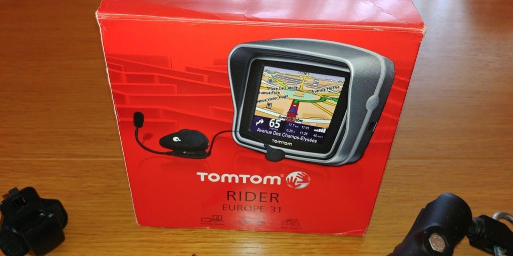 Nawigacja motocyklowa TomTom Rider + dodatki