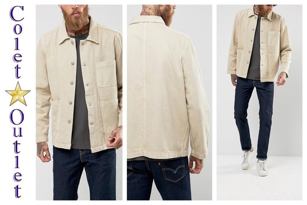 mr41 kurtka katana jeansowa jeans beżowa XS