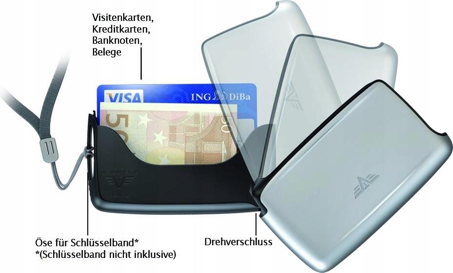 Portfel Tru Virtu Card Case Classic Line Silver Ar