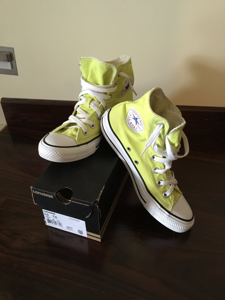 Converse All Star 38 Limonka neon plus pasek 7193446605