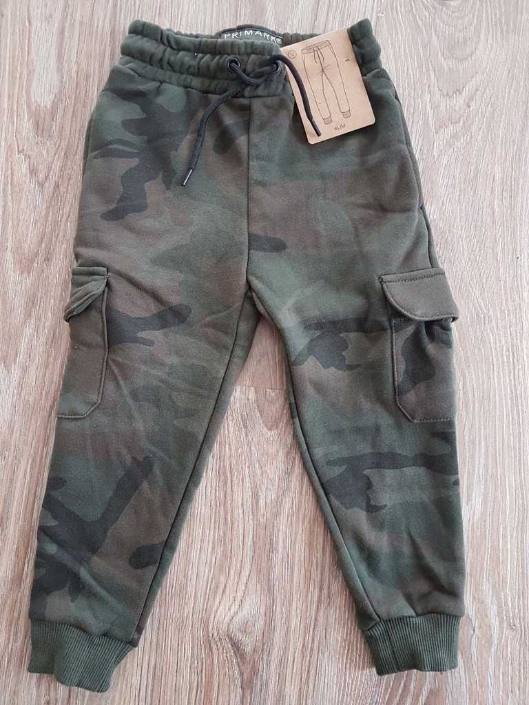134 Spodnie Moro Chlopiece Dziewczece Bawelna S 7197981548 Oficjalne Archiwum Allegro