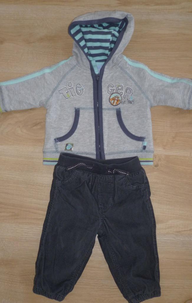 Disney bluza z kapturem 62cm spodnie F&F