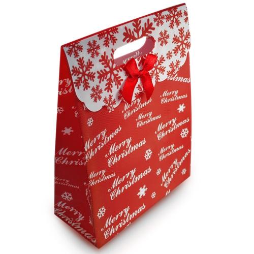 Torebka ozdobna na prezent świąteczna