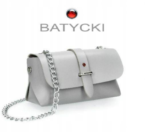 Torebka kopertówka Batycki mała torebka ze skóry naturalnej