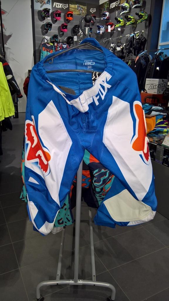 Spodnie Fox 180 Race Blue roz. 30