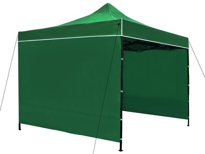 Namiot handlowy, pawilon gastronomiczny w kolorze zielonym