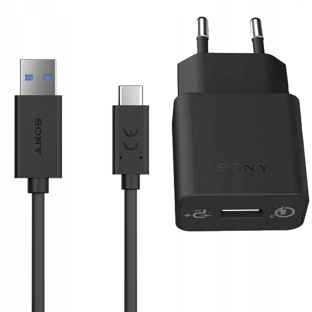 Xperia XZ / Premium Ładowarka Sony QC +kabel USB-C
