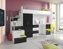 Zestaw młodzieżowy łóżko szafa biurko RAJ 4+schody