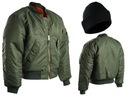 Wojskowa KURTKA Flyers Flek MA 1 Basic OLIV - XL