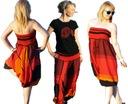 Joga, spodnie SZARAWARY pumpy z Indii 2 w 1 red