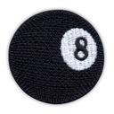 Naszywka - Bila 8, Czarna Kula, gra w bilard, HAFT
