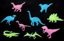 KOLOROWE GWIAZDKI ŚWIECĄCE W NOCY dinozaury kplet