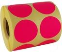 różowe samoprzylepne małe papierowe kolory fi 32mm