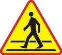 Znak Drogowy A 750mm przejście dla pieszych A 16