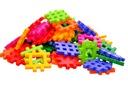Klocki Wafle 90 klocków 10,5 x10,5cm - 8 kolorów