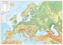 EUROPA MAPA ŚCIENNA FIZYCZNA / GEOGRAFICZNA