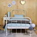 Łóżko metalowe 90x200 białe Producent