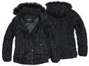 EW CLUB Czarna kurtka damska z paskiem S, L, XL