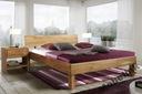 Łóżko dębowe EVA 180x200, lite, naturalne drewno