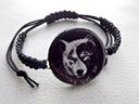 Bransoletka Wilk Wolf Gothic -Yin Yang- sznurek