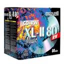 Płyty Maxell CD-RW XL II 80 audio do MUZYKI 1 szt