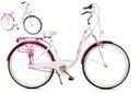 Rower miejski 28 LANDE Savana Nexus Alu biało-róż