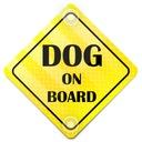ODBLASK NA AUTO SAMOCHÓD DOG ON BOARD PRZYSSAWKI