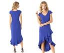 c27fca51 Asymetryczna chabrowa sukienka wesele w Sukienki - Moda damska na ...