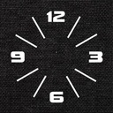 современный большой, тихий naklejany часы instagram D1C