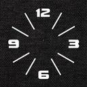 Nowoczesny duży cichy naklejany zegar ścienny D1C Marka własna