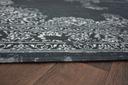 DYWAN VINTAGE 120x170 ROZETA czarny #B164 Kolor biały odcienie szarości czarny