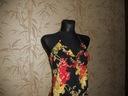 YUMI - czarna sukienka maxi w kwiaty - M Rozmiar 38 (M)