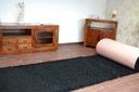 DYWAN SHAGGY 60x145 czarny 5cm jednolity miękki Długość 145 cm