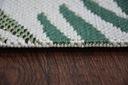 Dywan SISAL 200x290 DŻUNGLA JUNGLE LIŚCIE zi #B659 Kolor biały kremowy odcienie zieleni