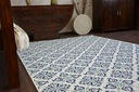 Dywan SIZAL 200x290 KWIATY biały/niebieski #B474 Kod produktu Dywan123