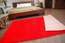 DYWAN SHAGGY 70x100 5cm czerwony miękki jednolity Długość 100 cm