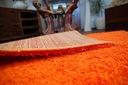 MIĘKKI DYWAN SHAGGY 5cm 80x150 pomarańcz @10639 Materiał wykonania polipropylen