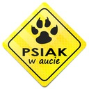 STICKER CHROŃ PUPILA * NAKLEJKA * PSIAK W AUCIE