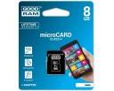 KARTA GOODRAM MICRO SD 8 GB PAMIĘCI + ADAPTER SD Klasy prędkości C4