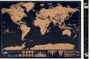 КАРТА МИРА, СКРЕТЧ-карта БОЛЬШАЯ ПУТЕШЕСТВЕННИКА подарок 83x60