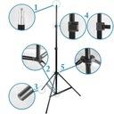 Solidny STATYW oświetleniowy 72-230 cm 803 16 mm Typ Oświetleniowy