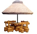 PARASOL OGRODOWY pod trzciną meble na taras altana