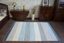 DYWAN NR 140x190 PASY krem szary niebieski #A138 Rodzaj z krótkim włosiem