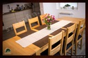 Dębowy stół rozkładany 160/85 dąb natura Głębokość mebla 85 cm
