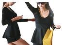 Sukienka koktajlowa koronkowa z baskinką 9004 MLXL